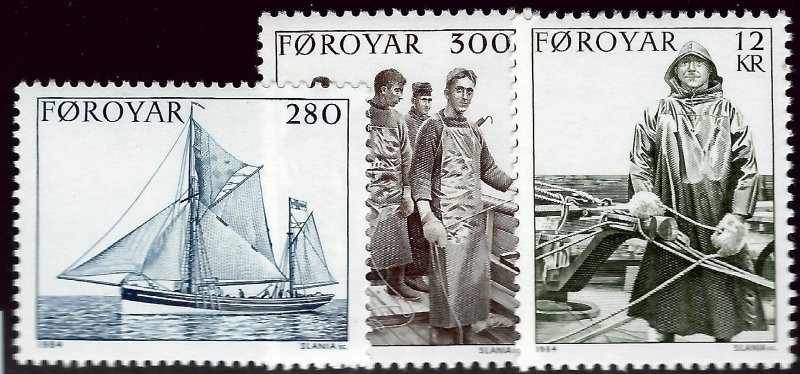 Faroe Islands SC#112-14 Mint VF SCV$6.25...Faroe Islands are Magical!