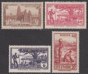 Ivory Coast 166A-166D MVLH CV $11.25