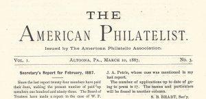 Doyle's_Stamps: APS Members' Delight- The American Philatelist Volume 1, No. 3