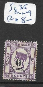 LABUAN  (P2705B)  QV CAMEO 6C/8C  SG 35   MNG