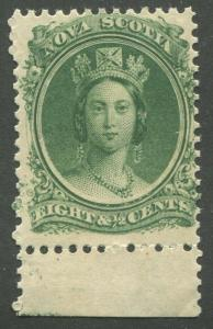 NOVA SCOTIA #11ii MINT VF NH UNSHADED E VARIETY