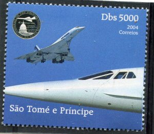 Sao Tome & Principe 2004 CONCORDE set 1v Perforated Mint (NH)