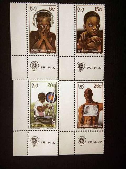 BOPHUTHATSWANA, 1981, MNH,  Int Year of Disabled Persons. Complete set.