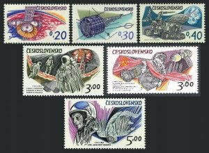 Czechoslovakia 1973 MNH Stamps Scott 1874-1879 1878 Type 2 Space Astronauts