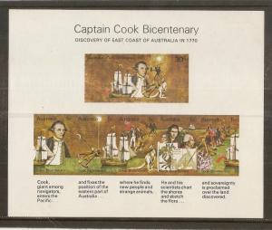 Australia 1970 Captain Cook Bicent Min.Sheet MS465 MNH
