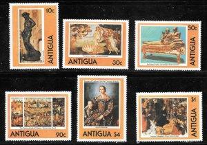 Antigua  (1980)  - Scott # 572 - 577, MNH