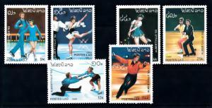 [92366] Laos 1989 Olympic Games Albertville Figure Skating  MNH