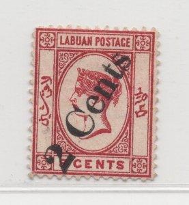 Malaya Labuan - 1885 - SG26 - 2c on 8c - no gum #687