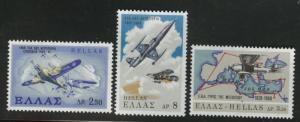 GREECE Scott 936-938 Air Force set