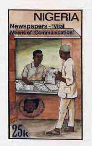 Nigeria 1983 World Communications Year - original hand-pa...