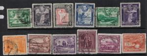British Guiana 1938-1952 SC 230-241 Used Set SCV $84.00