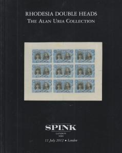 Rhodesia Double Heads, The Alan Uria Collection, 2012 Spink Auction catalog