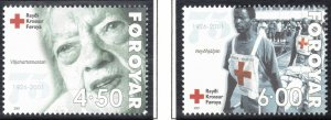 (CMA) Faroe Islands Scott #393-94 MNH Complete Set
