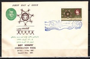 Persia, Scott cat. 1459. Scouts Cooperation Week issue. First day cover.