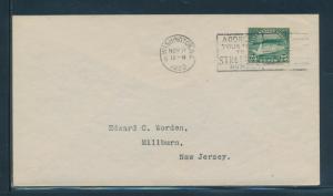 #568 NOV 11,1922 WORDEN FDC CACHET XF+ CV $650 HW4939