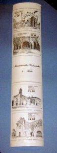 Mexico - 1341a, MNH Set w/ Label...Monuments. SCV - $4.00