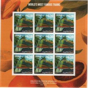 TUVALU 1260 MINT HINGED ORANGED BLOSSOM SPECIAL TRAIN