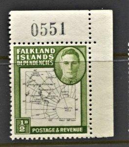 STAMP STATION PERTH -Falkland Is.Dep.#1L1 MNH OG VF Thin Maps CV$30 (Set CV$130)