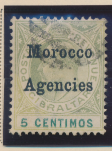 Great Britain, Offices In Morocco Stamp Scott #27, Used - Free U.S. Shipping,...
