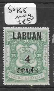 LABUAN (PP0204B)  4C SURCH ON 25C  SG 135  MOG