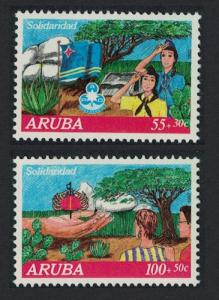 Aruba Scouts Cancer Fund 'Solidarity' 2v 1992 MNH SG#112-113