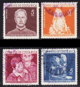 Costa Rica Scott RA7-10 complete set F to VF used.