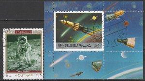 Fujeira  Space Souvenir Sheet + Stamp CTO