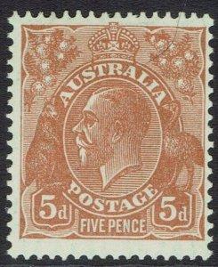 AUSTRALIA 1926 KGV 5D SMALL MULTI WMK PERF 13.5 X 12.5