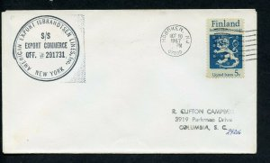 US SS EXPORT COMMERCE-291731 COVER HOBOKEN 10/20/67 TO COLUMBIA SC AS SHOWN (12)