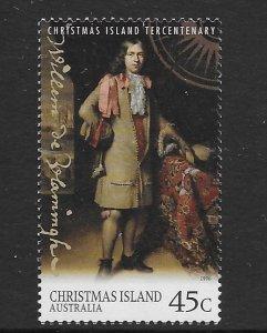 Christmas Island 404  1996 single  VF  NH