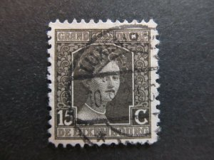 A4P26F41 Letzebuerg Luxembourg 1914-17 15c used