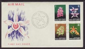 Papua New Guinea 402-405 Orchids 1974 U/A FDC