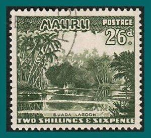 Nauru 1954 Buada Lagoon, 2'6s used  #46,SG55