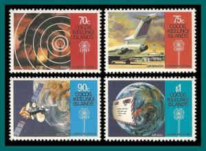 Cocos 1987 Communications, MNH 162-165,SG165-SG168