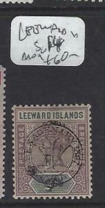 LEEWARD ISLANDS  (P2203B)   QV SENTENARY  7D  SG 14  MOG