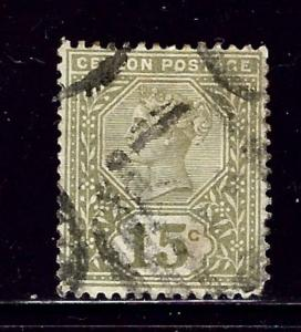 Ceylon 136 Used 1886 issue sh corner perf