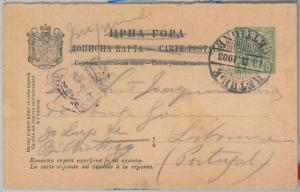 66034 - MONTENEGRO - Postal History -  STATIONERY CARD to PORTUGAL 1903