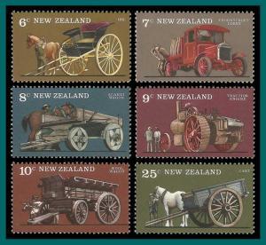 New Zealand 1976 Vintage Transport, MNH  #598-603,SG1115-SG1120