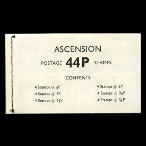 ASCENSION 1971 - Scott# 143A Booklet-Space History NH