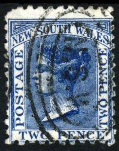 NEW SOUTH WALES AUSTRALIA QV 1884 2d. Prussian Blue Perf 11x12 SG 209a FU