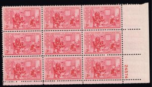 USA STAMP #1004 – 1952 3c Betsy Ross MNH/OG PL# BLK OF 6
