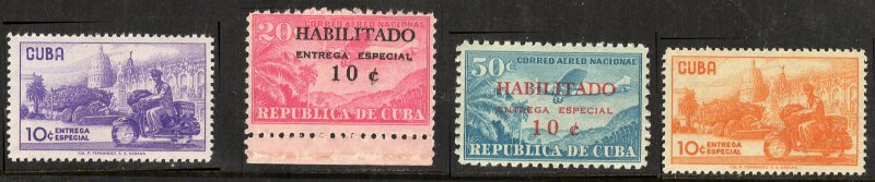 Cuba 1958 Special Delivery Scott # E28-31 MNH
