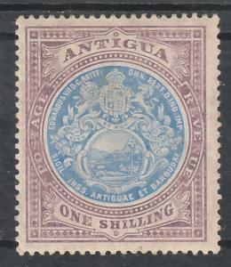 ANTIGUA 1908 ARMS 1/- WMK MULTI CROWN CA