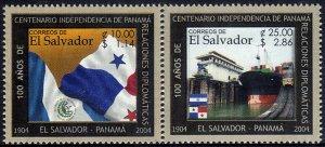 EL SALVADOR-PANAMA DIPLOMATIC RELATIONS Sc 1596-1597 SET of 2 MNH 2004