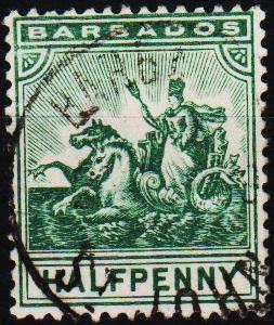 Barbados. 1892 1/2d S.G.106 Fine Used
