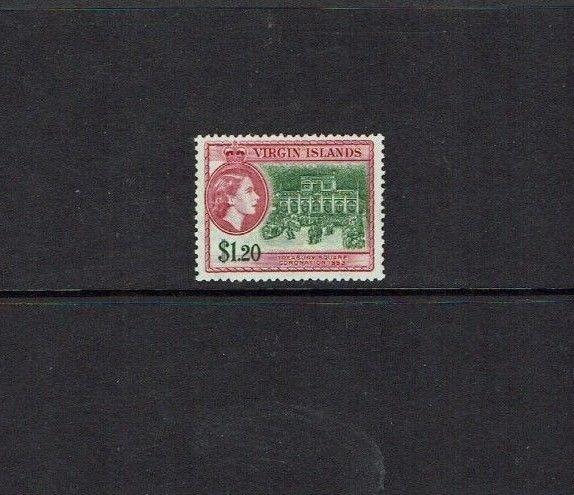 British Virgin Islands: 1956, $1.20, Coronation Celebration, Mint lightly hinged