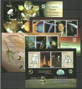 U1095 2008 NEVIS 50 YEARS OF SPACE EXPLORATION & SATELLITES 4KB FIX