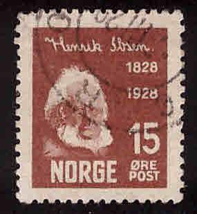 Norway Scott 133 Used stamp 1928 CV$3.25