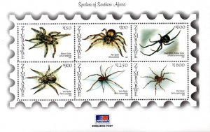 Zimbabwe - 2003 Spiders MS MNH** SG MS1114