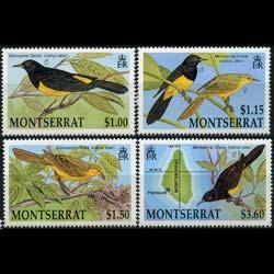 MONTSERRAT 1992 - Scott# 799-802 Birds-Orioles Set of 4 NH